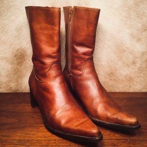Steve Madden Roccco Calf High Leather Cowboy Boots